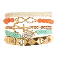 Layering Friendship Bracelet Set | Wet Seal