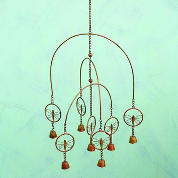 Flamed Dragonfly Mobile Wind Chime