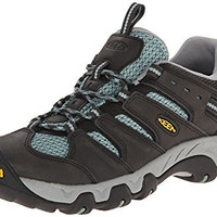 KEEN Women's Koven Hiking Shoe, Raven/Mineral Blue, 5 M US