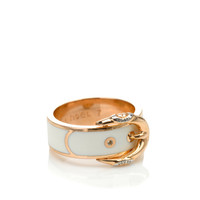 BUCKLE UP ENAMEL BAND RING