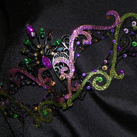 Custom Metallic Masquerade Mask