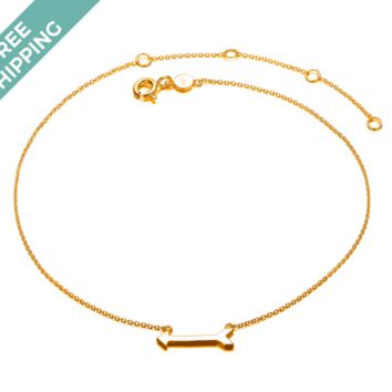 kiz&Co Gold Plated Sterling Silver Arrow Anklet