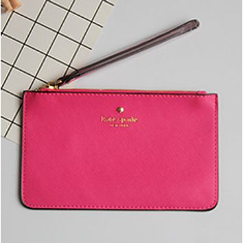 Kate Spade Women's new love phone bag macarons card package Rose Red
