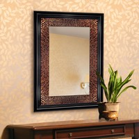Amber Beaded Rectangle Mirror (8894) - Illuminada