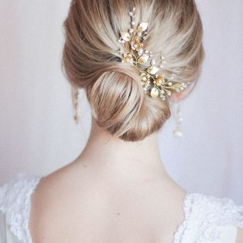 Bridal Hair Pins Bridal Headpiece Large Floral Hair Pins Set of Two