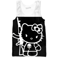 Hello kitty punisher tank top