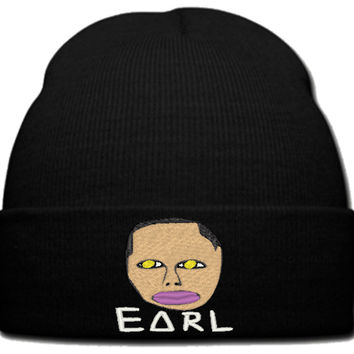 EARL WHITE beanie knit hat