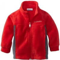 Columbia Little Boys' Steens Mountain Fleece, Bright Red, 2T