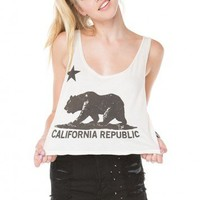 Brandy ♥ Melville |  Mirella CA Bear Tank - Graphic Tops - Clothing