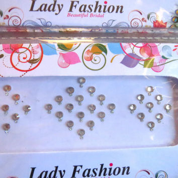 Crystal silver Bindi India HIgh Quality / dots/ round bindi/Traditional Stickers/face jewelry/headpiece/belly Sticker/Tatto/fancy Bindi/