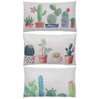 Creative Cactus Pattern Pillow Cases Chair Waist Pillowcases 30 x 50cm Cotton Linen Pillow Cover Home Textile Living PTSP