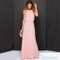 Halter Pleated Maxi Dress