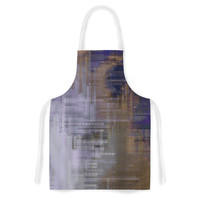 """Michael Sussna """"Reach for the Sky"""" Purple Brown Artistic Apron"""