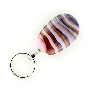 Magnetic Eyeglass Holder, Magnetic ID Holder, lampwork glass colorful designer lanyard