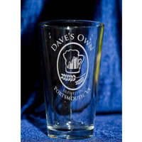 Engraved Pint Glasses - Home Brewer's Custom Engraved Pint Glasses