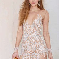 For Love & Lemons Luau Lace Mini Dress - White