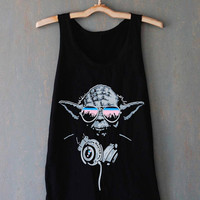 DJ Yoda Jedi Master Star Wars for tank top mens and tank top girls
