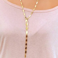 I'll be Yours Necklace: Gold