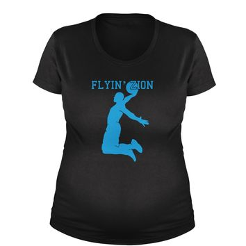 Flying Zion Basketball Maternity Pregnancy Scoop Neck T-Shirt