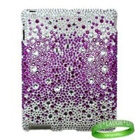 Bedazzled Diamond Cover Hard Case for all models of Apple iPad 2 (2nd Generation, wifi , + AT&T 3G , 16 GB , 32GB , MC939LL/A , MC947LL/A , ect..) + Live * Laugh * Love Vangoddy Wrist Band!!!