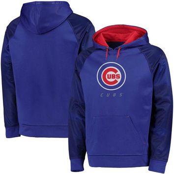 Men's Chicago Cubs Majestic Royal Big & Tall Armor Therma Base Hoodie