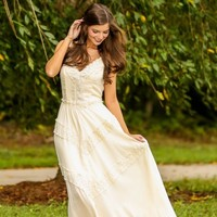 Enchanted To Meet You Maxi Dress-Ivory