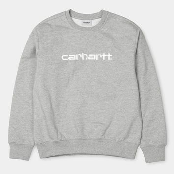 Carhartt WIP Embroidered Crewneck Grey