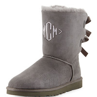 Bailey Bow-Back Short Boot, Gray - UGG Australia