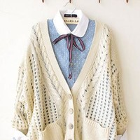 Unique Fresh Floral Crochet Cardigan