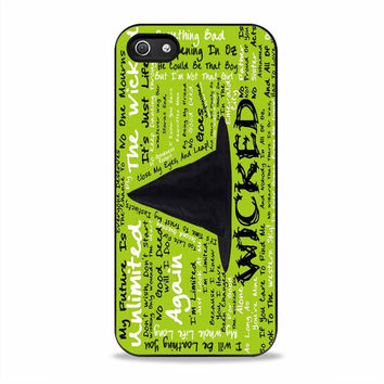 Wicked Lyrics quotes movies Iphone 5S Cases