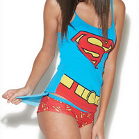 Superman Cami & Hipster Sleep Set