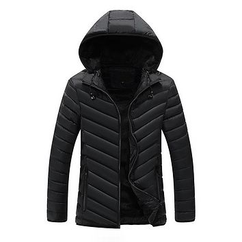 Bolubao New Men Winter Jacket Fashion Brand Fleece Lined Headphone Hoody Outerwear Coats Cotton Padded Male Hooded Parkas