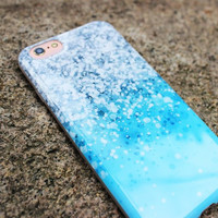 Turquoise Erosion iPhone Case