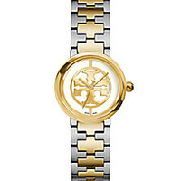 Tory Burch - Reva Two-Tone Stainless Steel Bracelet Watch/Ivory - Saks Fifth Avenue Mobile