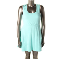 Rebellious One Womens Juniors Cut-Out Sleeveless Casual Dress