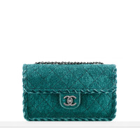 Felt flap bag - CHANEL