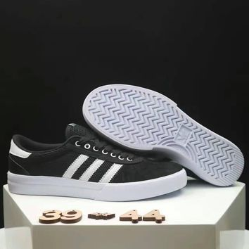 Adidas NEO Couple Casual Running Sport Shoes Sneakers black white line