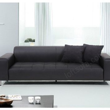 Contemporary Tufted Leather Sofa, contemporary couches and upholstery factory direct pricing.