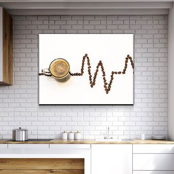 Coffee Life Kitchen and Dining Room Wall Decor Canvas Set