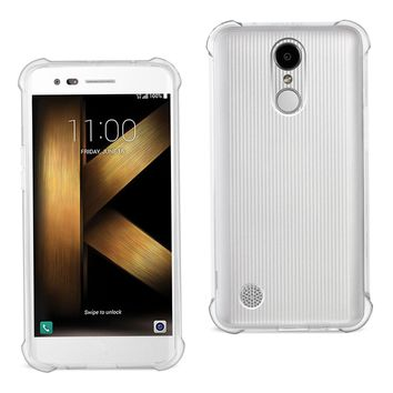 LG K20 V/ K20 Plus Clear Bumper Case With Air Cushion Protection (Clear)