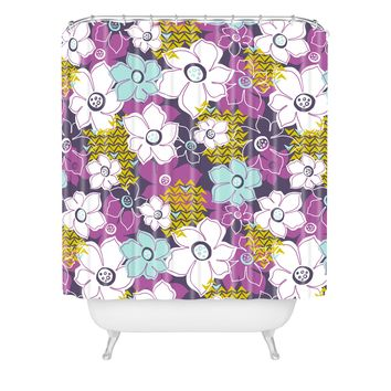 Heather Dutton Petals and Pods Orchid Shower Curtain