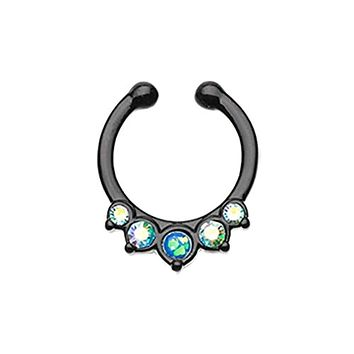 Colorline Opal Precia WildKlass Fake Septum Clip-On Ring