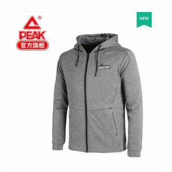 Peak sweater 2018 autumn and winter new men's windproof warm hoodie cardigan Seahawks.Full-Zip hoodie - Heathered Grey