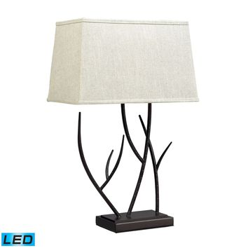 Winter Harbour Hammered Iron LED Table Lamp In Bronze Bronze