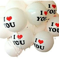 I Love You Balloons 10-pack Engagement Party Decorations