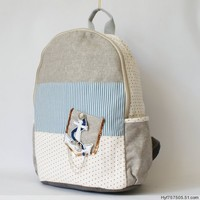 Mixed Color Anchor Backpack Gray B542