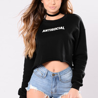 Antisocial Sweater - Black