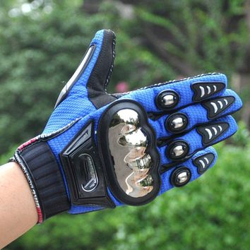 Special riding Genuine motorcycle electric car racing men and women outdoor sports alloy steel full finger gloves