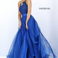 Sherri Hill Long Organza Dress 50032