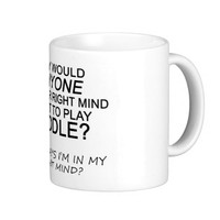 Right Mind Fiddle Classic White Coffee Mug